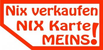 Nix Verkaufen Nix Karte Meins